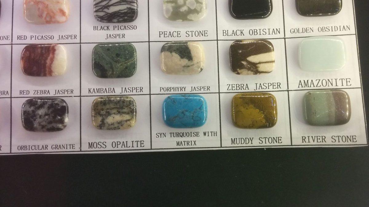 Cabujón de piedras semipreciosas