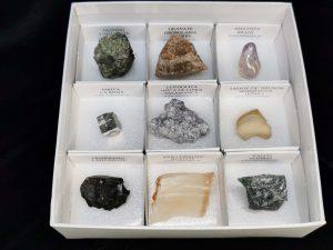colección de minerales escolares